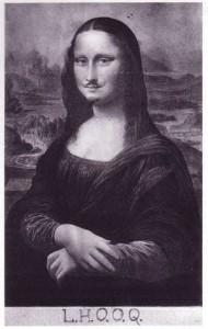 """Marcel Duchamp Mona Lisa LHOOQ"". Via Wikipedia - http://en.wikipedia.org/wiki/File:Marcel_Duchamp_Mona_Lisa_LHOOQ.jpg"