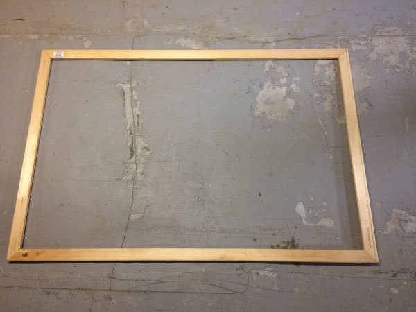 four canvas stretcher bars assembled into a frame