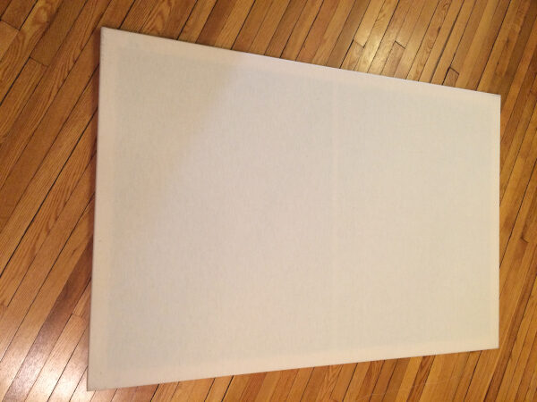 stretched canvas, before priming
